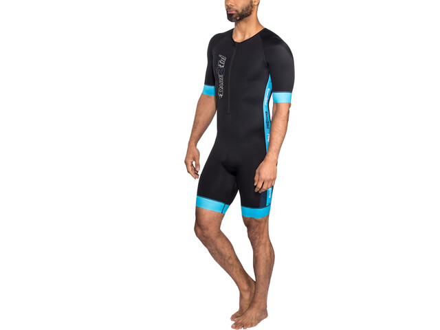 Dare2Tri Coldmax Combinaison de triathlon à manches courtes Homme, blue